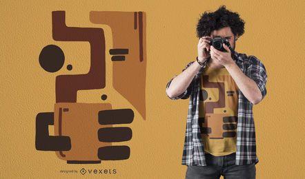 Projeto abstrato do t-shirt do café