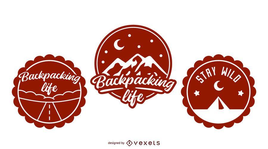 Backpacking badge set