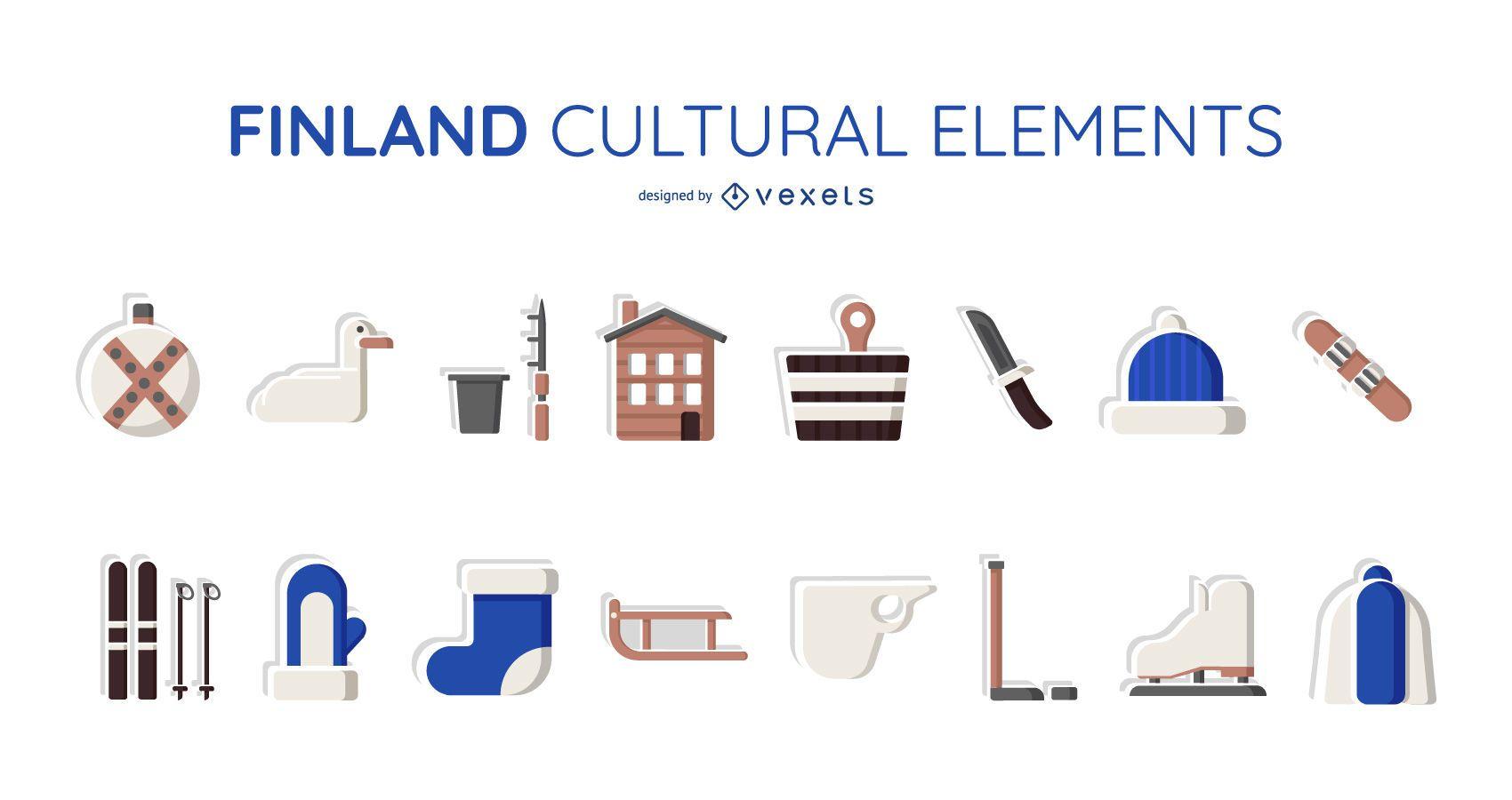 Finland cultural elements set