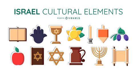 Conjunto de elementos culturales de Israel