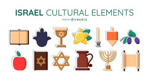 Israel cultural elements set