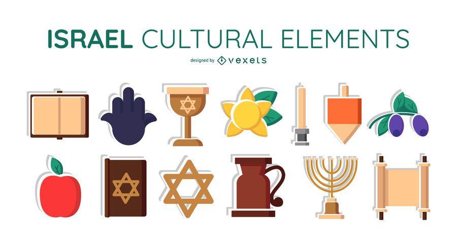 Israel cultural elements set
