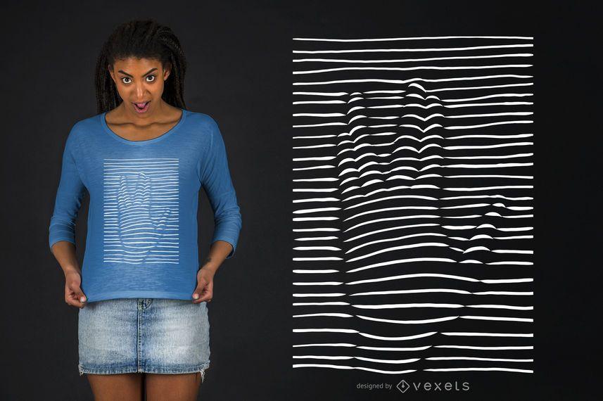 Diseño de camiseta Vulcan Hand