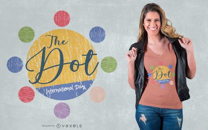 Diseño de camiseta del Día Internacional de Dot