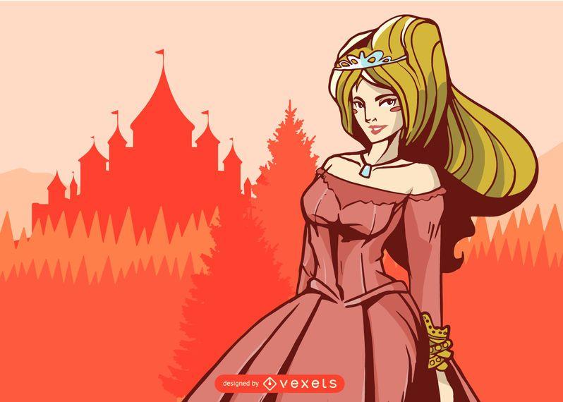 Princesa Real Ilustração Design