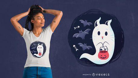 Geisterkatzent-shirt Entwurf