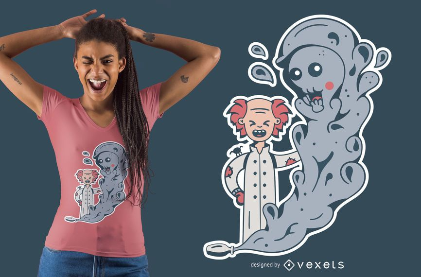 Cute Mad Scientist T-shirt Design