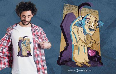 Projeto louco do t-shirt do Dia das Bruxas do cientista