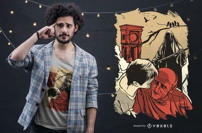 Projeto do t-shirt do tempo da morte