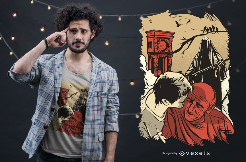 Death Time T-shirt Design