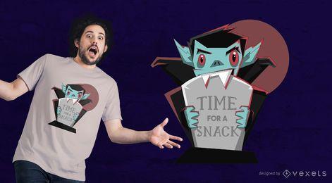 Projeto bonito do t-shirt da rotulação do vampiro