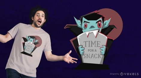 Vampire Cute Lettering T-shirt Design