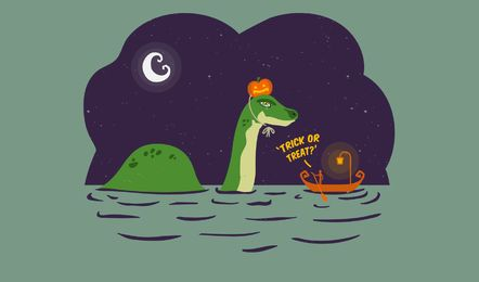 Cute loch ness monster
