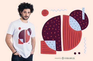 Diseño de camiseta de café colorido abstracto