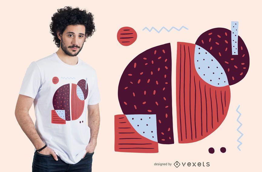 Design de camiseta colorida abstrato café