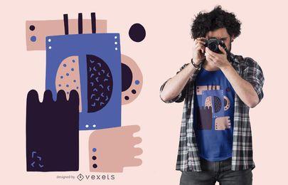 Projeto abstrato do t-shirt do feijão de café