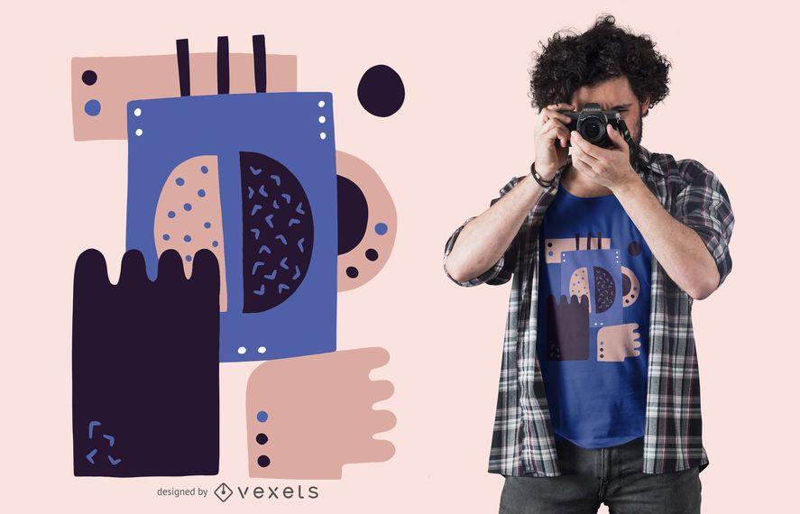 Abstraktes Kaffeebohnet-shirt Design