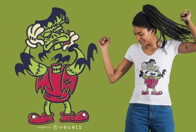 Diseño de camiseta de Frankenstein sin cabeza