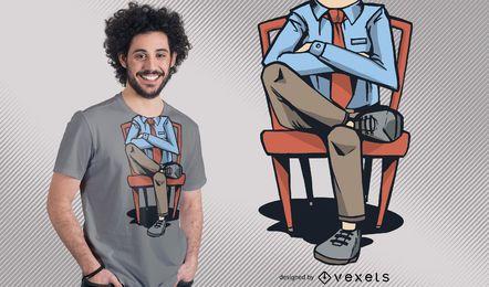 Design de t-shirt sem cabeça homem engraçado