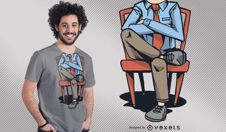 Lustiger kopfloser Mann-T-Shirt Entwurf