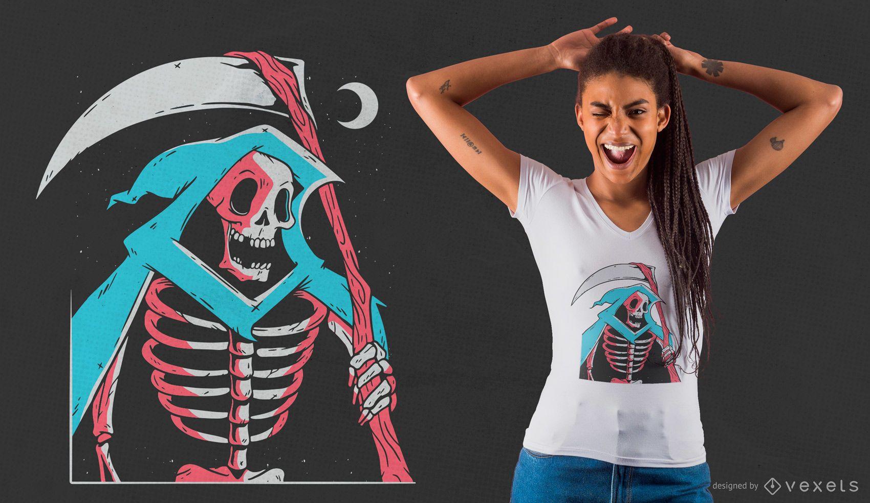 Grim Reaper Skeleton T-shirt Design