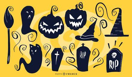 Halloween künstlerische Silhouetten
