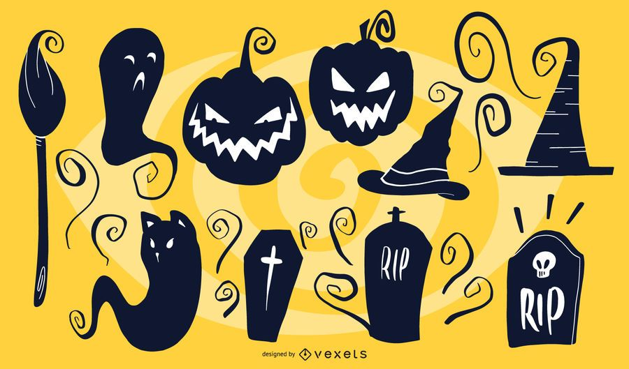 Siluetas artísticas de Halloween