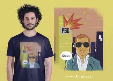 Diseño de camiseta de política rumana