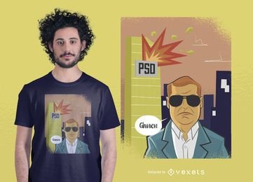 Rumänischer Politik-T-Shirt Entwurf