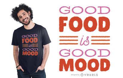 Diseño de camiseta de letras de humor de alimentos
