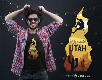 Diseño de camiseta de escalada de Utah
