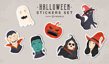Conjunto de adesivos de Halloween