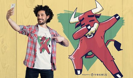 Diseño de camiseta Bull Dabbing