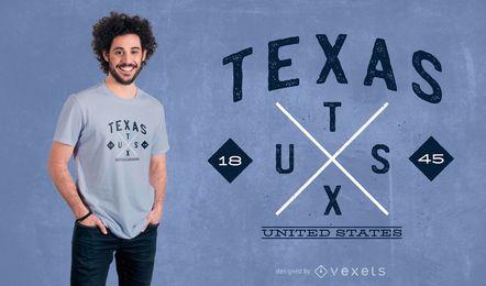Texas-Hipster-T-Shirt Entwurf