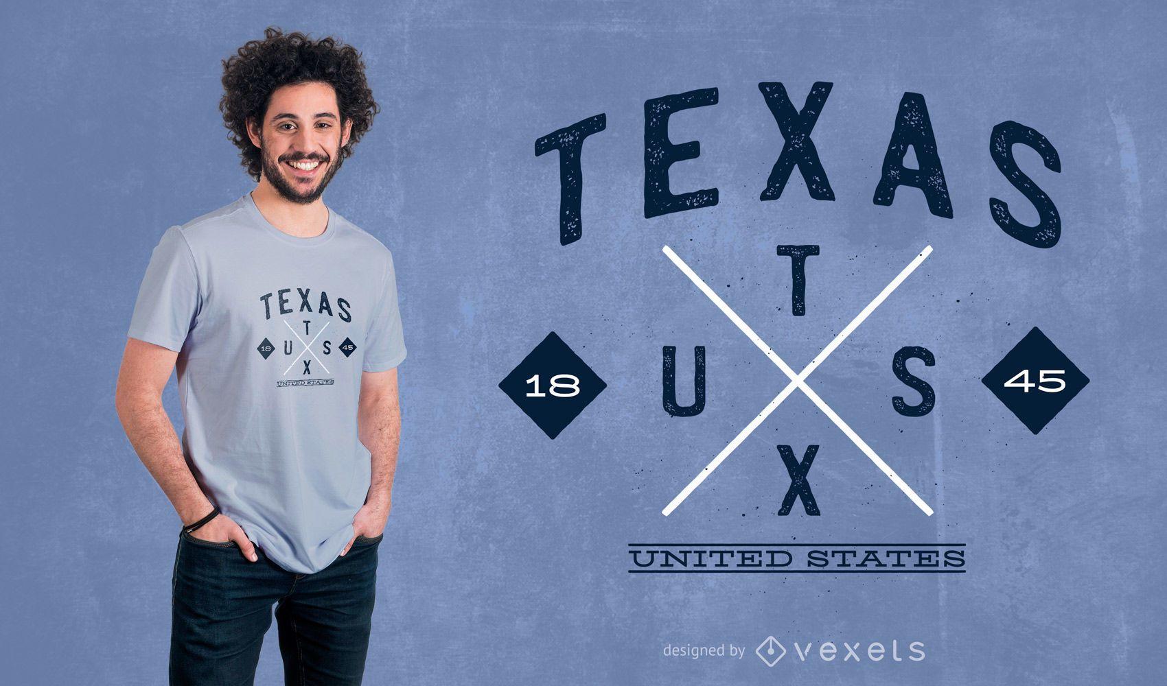 Diseño de camiseta Texas Hipster