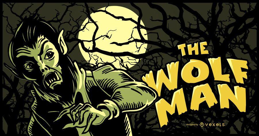 Wolf Man Illustration