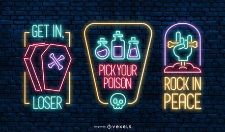 Halloween Neon Banner