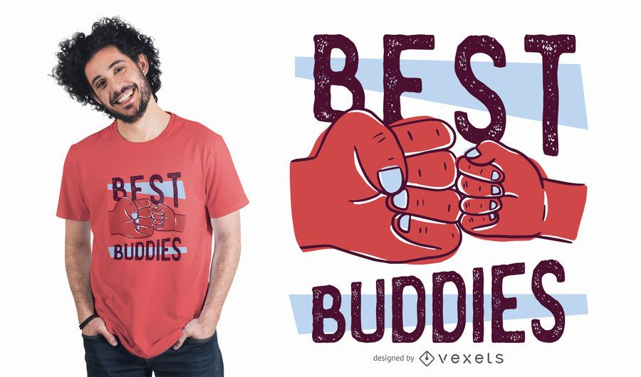 Diseño de camiseta Best Buddies