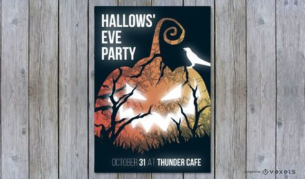 Hallows' eve party poster design