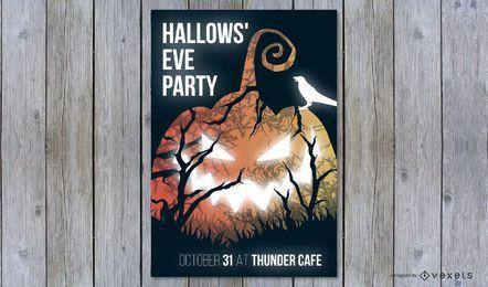 Hallowsâ ???? diseño de cartel de fiesta de víspera
