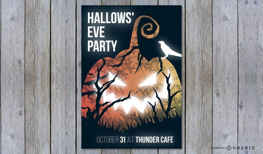 Diseño del póster de la fiesta de Halloween