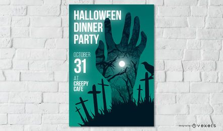 Design de cartaz de festa de Halloween