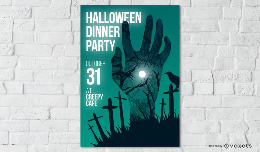 Design de cartaz de festa de Halloween