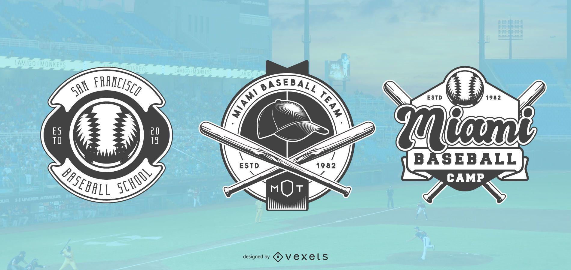 Conjunto de logotipo de b?isbol
