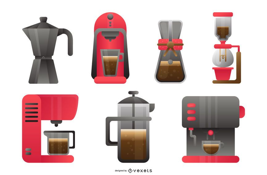 Coffee Maker Design Set
