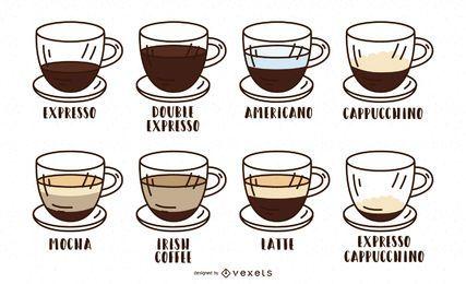 Design de tipo de café