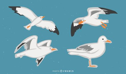 Conjunto de vetores de gaivota