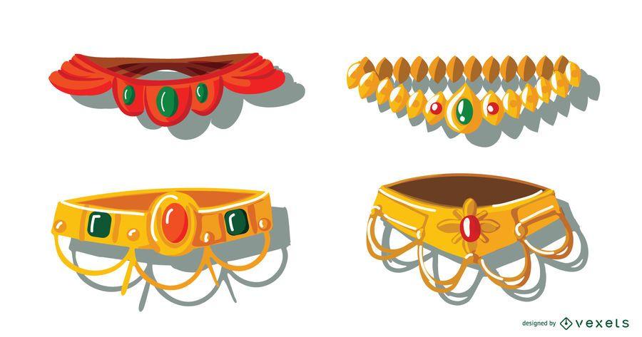 Conjunto de coronas hindúes