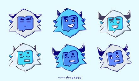 Yeti emoji collection