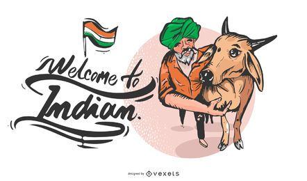 Bem-vindo à Índia Banner Design